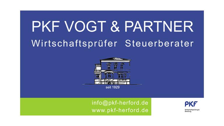 PKF Vogt & Partner - Wirtschaftsprüfer-Steuerberater - POST TSV Detmold Sponsoren Banner G-Junioren