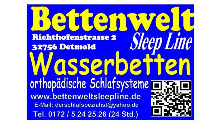Bettenwelt Sleep Line Wasserbetten orthopädische Schlafsysteme - Sponsorenlog POST TSV Detmold e.V.