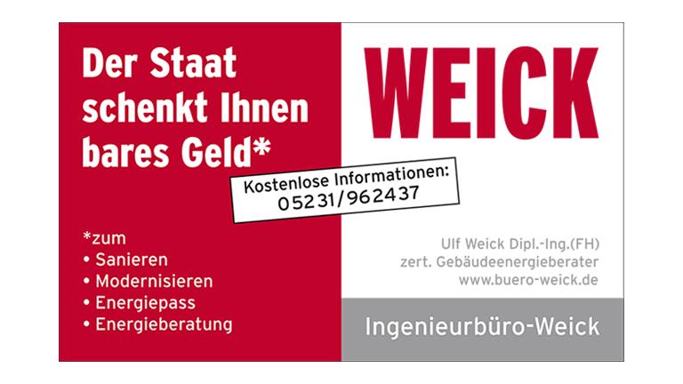 Ingenieurbüro Weick Detmold - Sponsoren Logo POST TSV Detmold e.V.