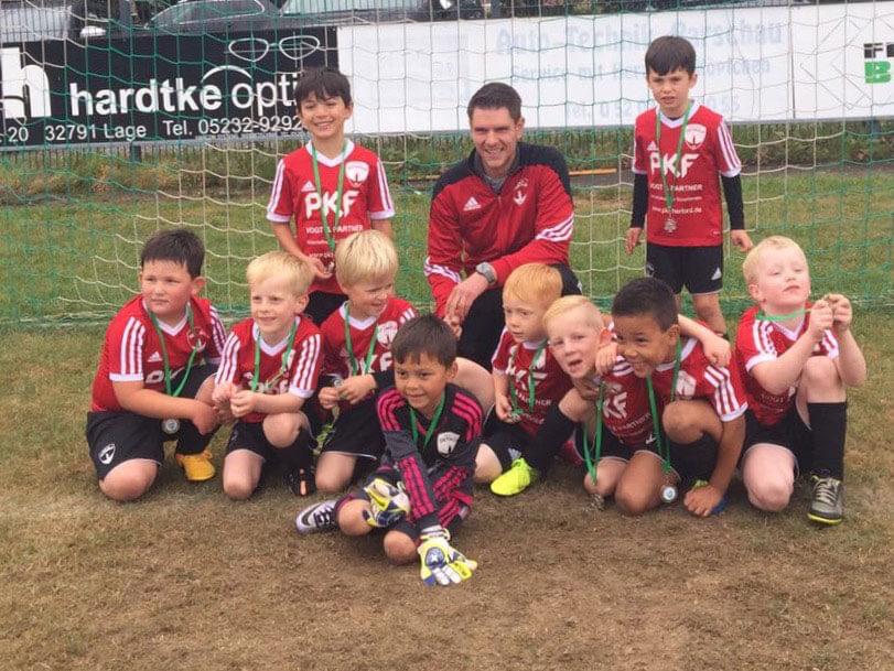 Mannschaftsfoto - Minikicker Post TSV Detmold Saison 2016/17