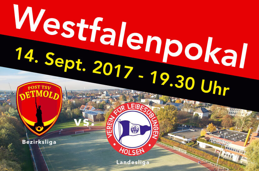 Westfalenpokal 14. Septmber 2017 Post TSV Detmold vs. Vfl Holsen