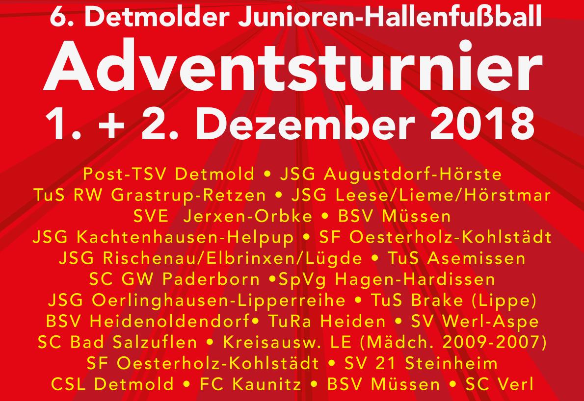 Post TSV Detmold Adventsturnier 2018 - Jugend- und Kinderfussball in Lippe