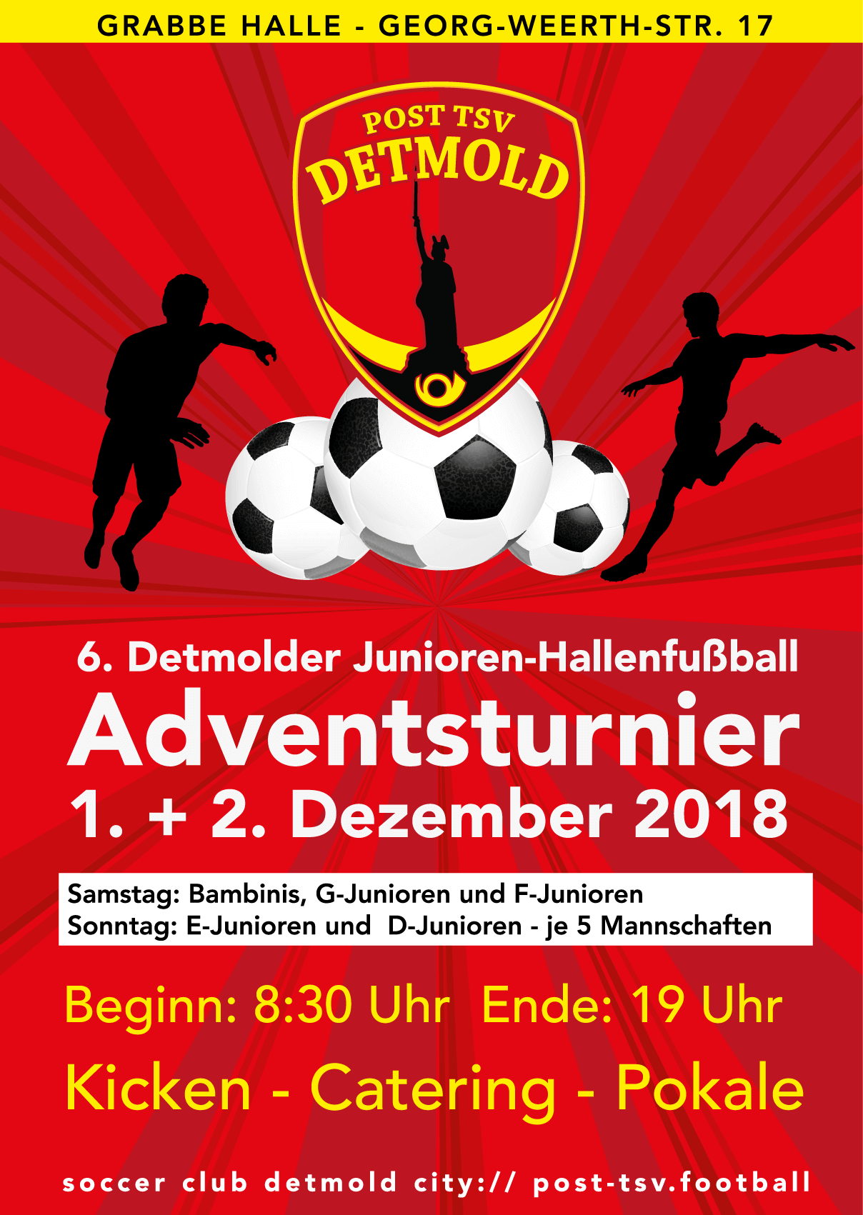 Plakat Adventsturnier 2018 - Post TSV Detmold
